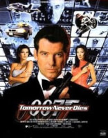 Affiche van Tomorrow Never Dies, met Pierce Brosnan, Michelle Yeoh en  Teri Hatcher.