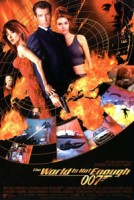 Affiche van The World Is Not Enough, met Pierce Brosnan, Sophie Marceau en Denise Richards.
