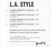 Achterkant cd-single L.A. Style - James Brown Is Dead