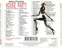 Achterkant cd Turn up The Bass House Party 1